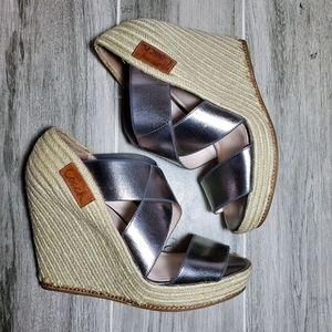 COACH | Michelle Espadrilles Wedges Metallic